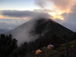 Tents overlooking Fuego