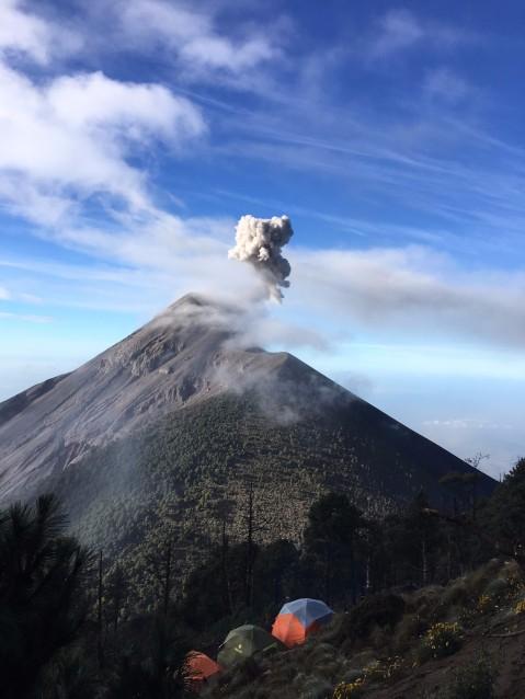 Daytime eruption